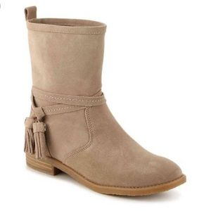Tommy Hilfiger Amberlee Suede Tan Ankle Boots